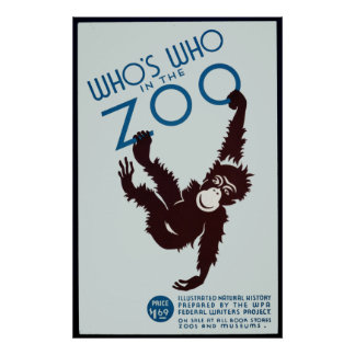 who's who in the zoo poster