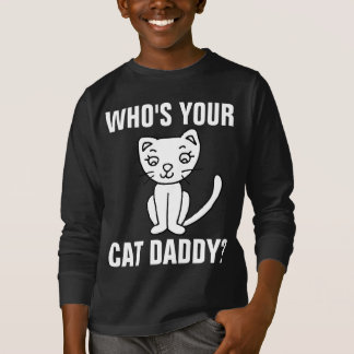 WHO'S YOUR CAT DADDY? (DAD) T-Shirts for Teen Boys