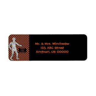 Who's Your Mummy Halloween Return Address Label