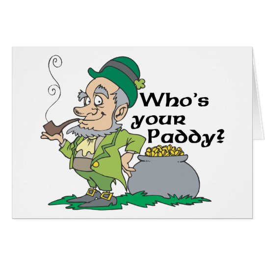 Who's Your Paddy? Card