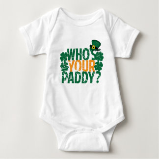 Who's Your Paddy? Funny St. Patrick's Day Baby Bodysuit