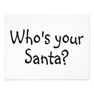 Who's Your Santa Custom Invitation