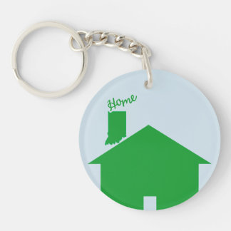 Whose Yer Home? Double-Sided Round Acrylic Key Ring