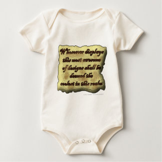 Whosoever displays this most awesome... baby bodysuit