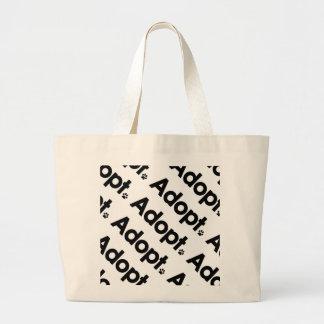 WHS Adopt Logo Large Tote Bag