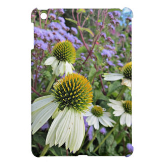 Whte Coneflowers with Blue Cover For The iPad Mini