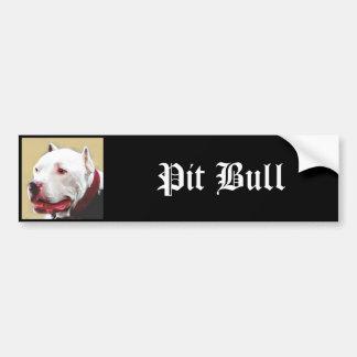 Whtie Pit Bull Bumper Sticker
