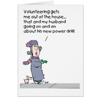 Why a wife volunteers greeting card