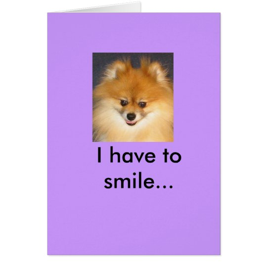 Why am I Smiling? Card