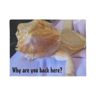Why are you back here Hilarious Beardie Design Doormat