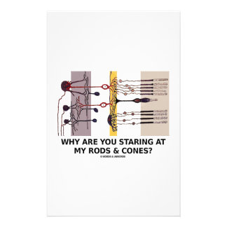 Why Are You Staring At My Rods & Cones? Stationery Design