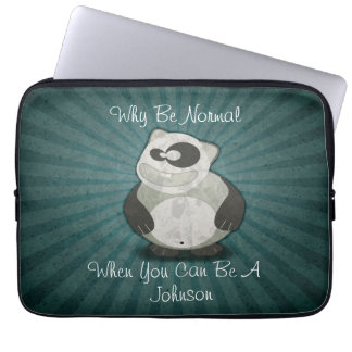 Why Be Normal Panda Customized Laptop Sleeve