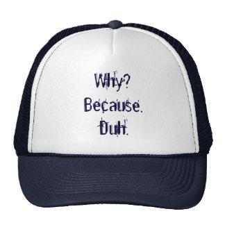 Why? Because. Duh. Cap