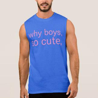 why boys sleeveless tee
