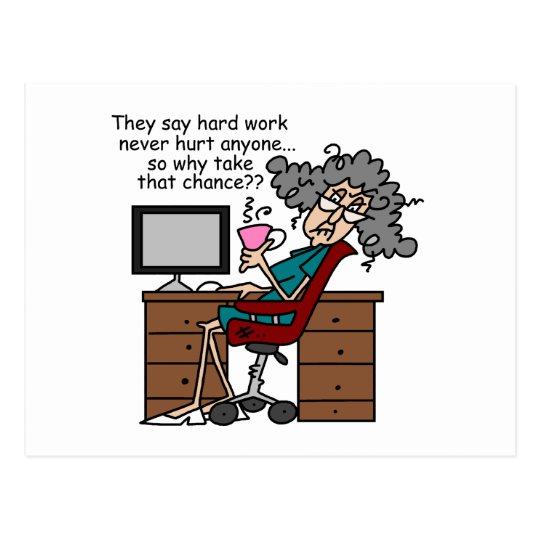 Why Chance Hard Work Humour Postcard