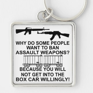 Why Do Some People Want To Ban Assault Weapons Silver-Colored Square Key Ring
