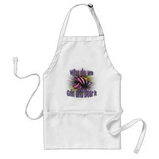 Why Do We Grin And Bear It purple Standard Apron
