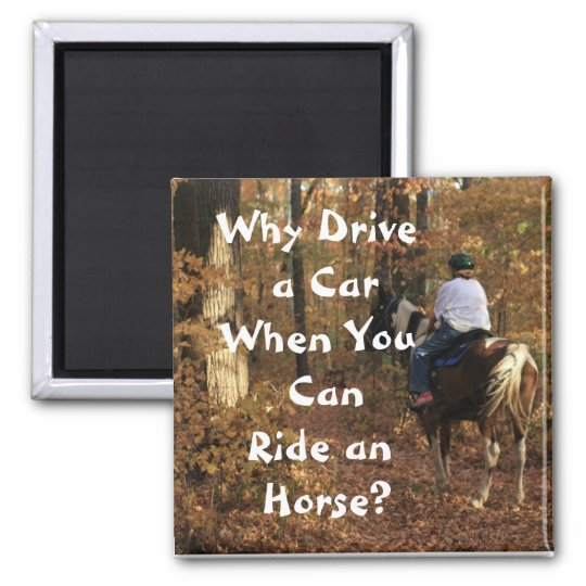 Why Drive a Car? Square Magnet