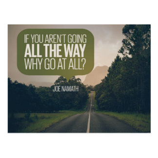 Why Go At All Postcard