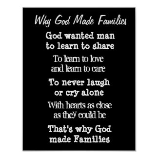 Why God made families wall print