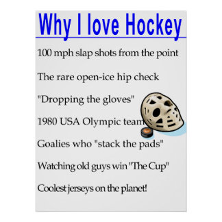 Why I Love Hockey Poster