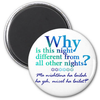 Why is this night? 6 cm round magnet