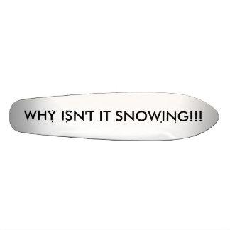 WHY ISN'T IT SNOWING!!! SKATEBOARDS