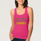 Why Just Achieve? When You Can Overachieve! Design Tank Top