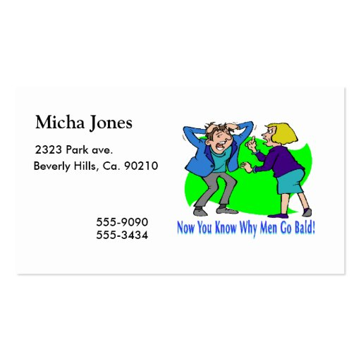 Why Men Go Bald Business Cards