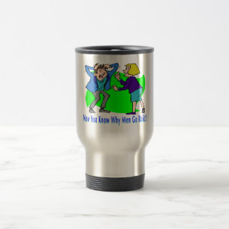 Why Men Go Bald 15 Oz Stainless Steel Travel Mug