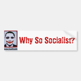 Why So Socialist? Bumper Sticker