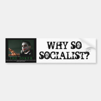 WHY SOSOCIALIST? BUMPER STICKER