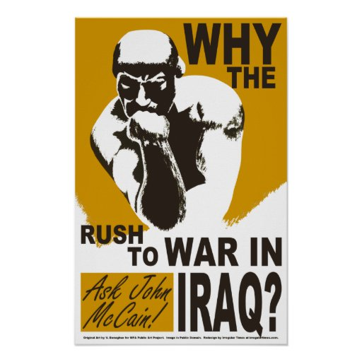 Why The Rush to War? Poster