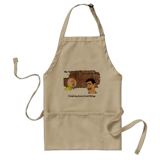 Why U NO Guy and Laughing Guy Greek to Me Meme Adult Apron