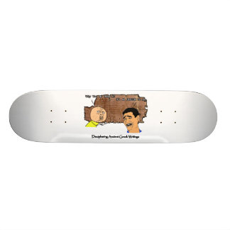 Why U No Guy and Laughing Guy Greek to Me Meme Skateboards