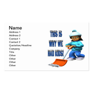 Why We Had Kids Pack Of Standard Business Cards