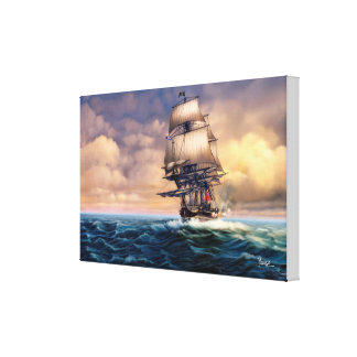 Whydah Gally Historic Ship Painting Canvas Print