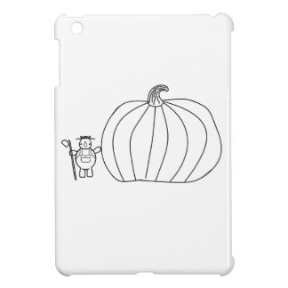 whynocerus the rhinoceros with giant pumpkin iPad mini covers
