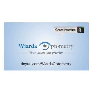 Wiarda Optometry Double-Sided Standard Business Cards (Pack Of 100)