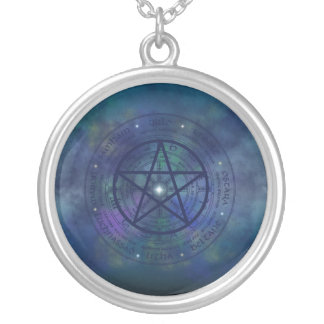 Wicca Enlightenment Round Pendant Necklace