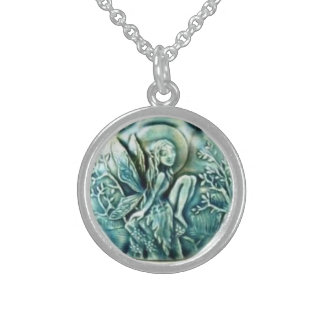 WICCA FAIRY PROTECTION CHARM ROUND PENDANT NECKLACE