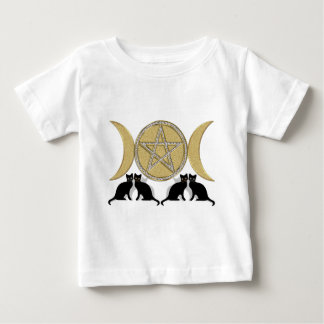 Wicca Pagan Triple Goddess Pentagram Cats Tee Shirts