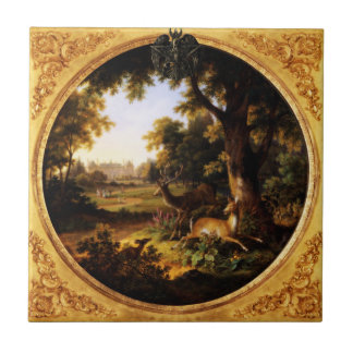 Wicca Rustica: The Hunt Small Square Tile