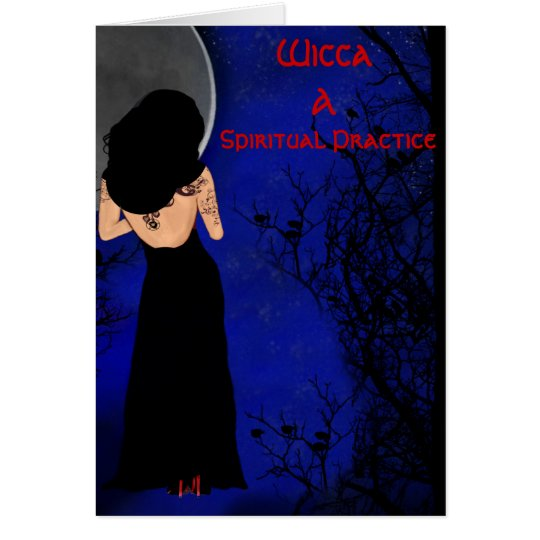 Wicca Spiritual Inlightenment Greeting Card