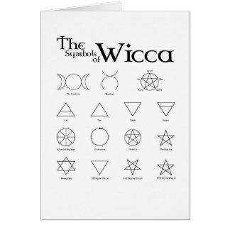 Wicca Symbols Card