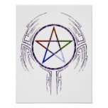 Wicca Tribal Poster