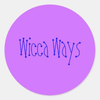 Wicca Ways Classic Round Sticker