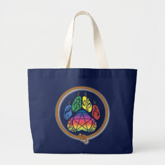 Wicca Wolf of Nature Large Tote Bag