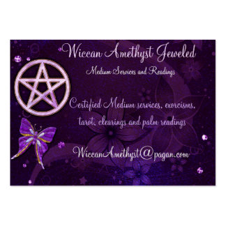 Wiccan Amethyst Jeweled Butterfly Art Pack Of Chubby Business Cards