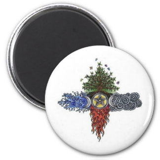 wiccan biker button magnets